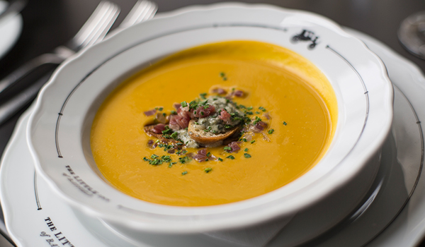 Squash Soup - The Willow Room at the Little Inn in Bayfield, Ontario
