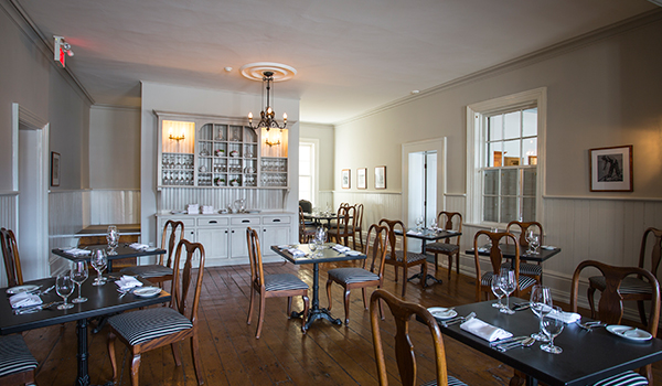 Original Dining Room - The Willow Room at the Little Inn in Bayfield, Ontario